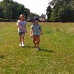 Amelie and Fraser - sponsored walk