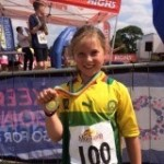 Amelie took part in a junior triathlon for us