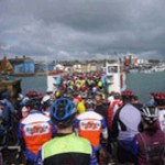 Cyclists rode round the Isle of Wight