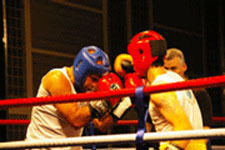 In the ring at Boxing for Africa