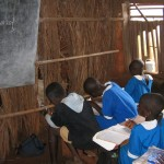 GS Ntseimbang - Classrooms divided with straw screens