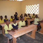 Inside the newly constructed classroom at IPS Bamali