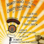 24 hour radiothon at Insanity radio