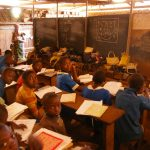 Insidethe divided classrooms at GS Ber