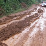 Main roads reduced to slippery mud