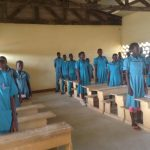 Goulfey pupils greet us in their new classrooms