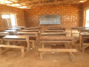 Inside the current classroom at GSS Jiyane