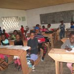 Just waiting for the top coat of paint, but children at GS Nketiosh are enjoying these classrooms already.