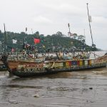 Decorated fishing boats at Limbe