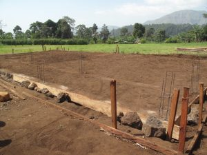 Two new classrooms to be built on these foundations at GTC Mbokevu