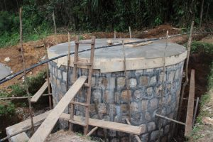 The huge new holding tank for this project, under construction