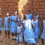 Primary school choir practising at CS Bamali